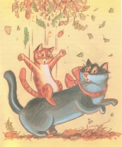 кошка Лиза и кот Валерьян