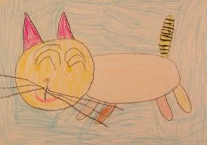 большая пушистая кошка