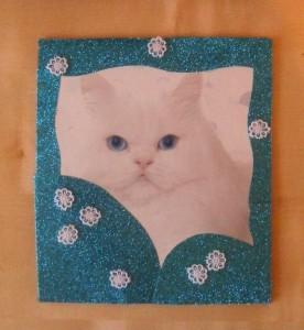 открытка_белая_кошка